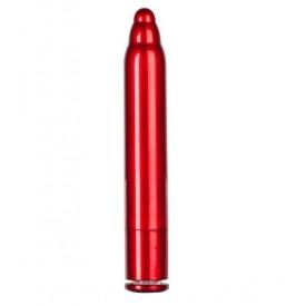 Красный вибратор METALLIX FIGURADO BULBED VIBRATOR - 11,5 см.
